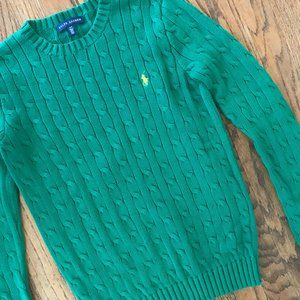Ralph Lauren Cable Knit Cotton Pullover Sweater S